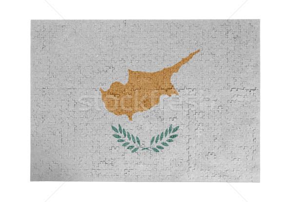 ジグソーパズル 1000年 ピース キプロス フラグ ストックフォト © michaklootwijk