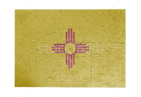 Grande 1000 peças Novo México bandeira Foto stock © michaklootwijk