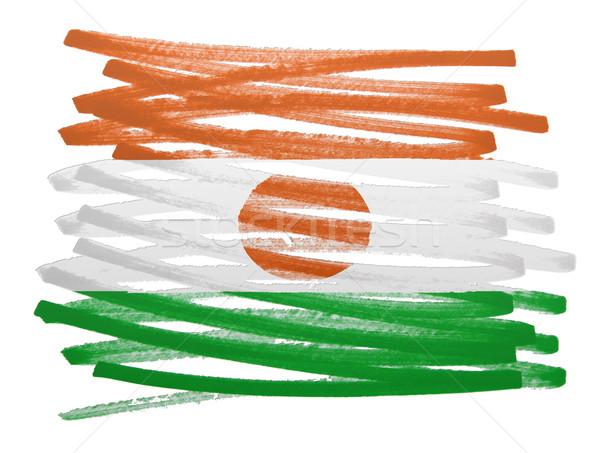 Bandera ilustración Níger pluma diseno viaje Foto stock © michaklootwijk