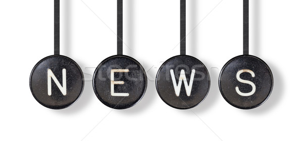 Typewriter buttons, isolated - News Stock photo © michaklootwijk
