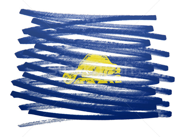 Bayrak örnek Oregon kalem iş boya Stok fotoğraf © michaklootwijk