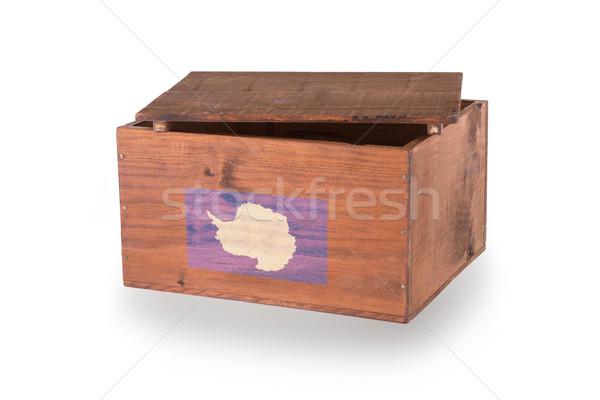 Skrzynia odizolowany biały produktu drewna Zdjęcia stock © michaklootwijk