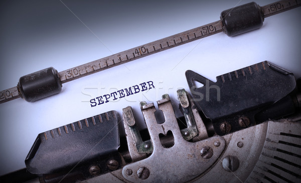 Old typewriter - September Stock photo © michaklootwijk