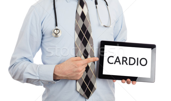 Médico comprimido cardio isolado branco Foto stock © michaklootwijk