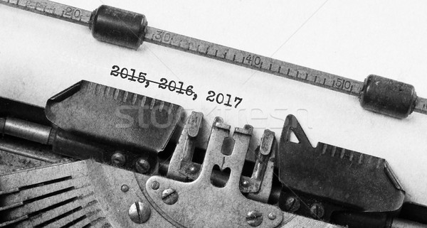 Old typewriter - 2017 Stock photo © michaklootwijk