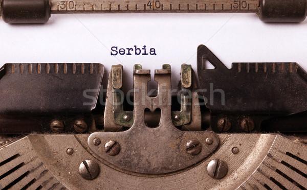 Edad máquina de escribir Serbia vintage país Foto stock © michaklootwijk