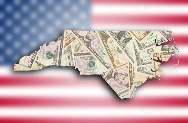 地図 ノースカロライナ州 背景 フラグ シルエット 白 ストックフォト © michaklootwijk