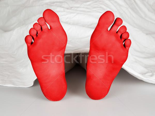 Test lap fehér öngyilkosság alszik gyilkosság Stock fotó © michaklootwijk