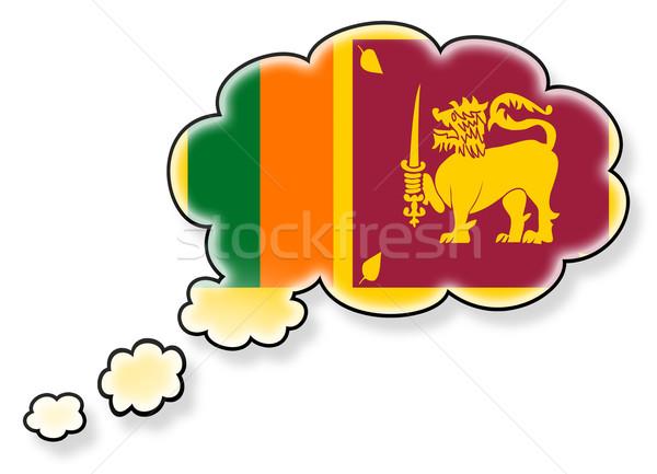 Vlag wolk geïsoleerd witte Sri Lanka kunst Stockfoto © michaklootwijk