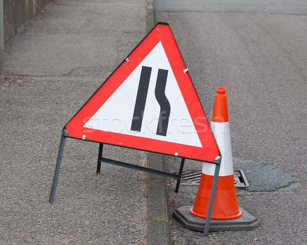 Roadwork sign Stock photo © michaklootwijk