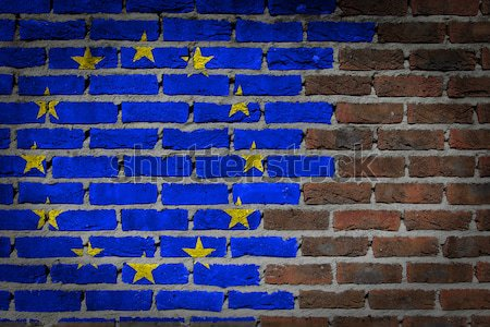 Dark brick wall - LGBT rights - EU Stock photo © michaklootwijk