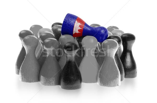 Uno peón superior bandera Camboya Foto stock © michaklootwijk