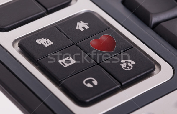 Buttons on a keyboard - Love Stock photo © michaklootwijk