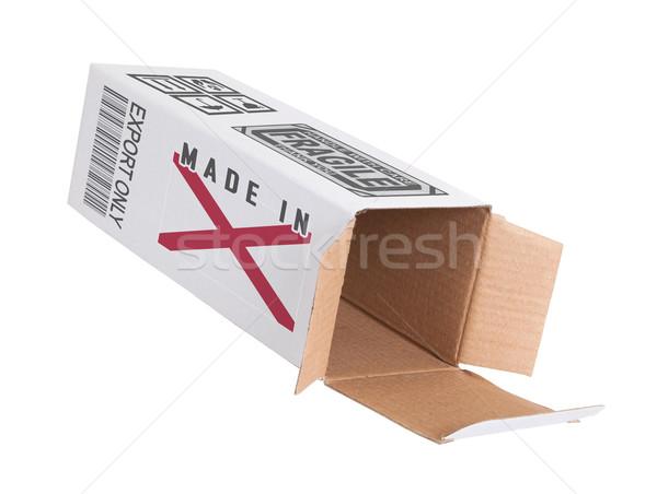 Exportar produto Alabama papel caixa Foto stock © michaklootwijk