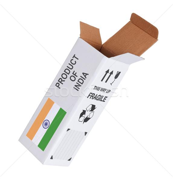 экспорт продукт Индия бумаги окна Сток-фото © michaklootwijk