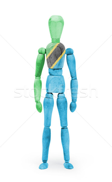 Wood figure mannequin with flag bodypaint - Tanzania Stock photo © michaklootwijk