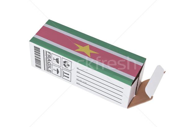 Foto stock: Exportar · produto · Suriname · papel · caixa