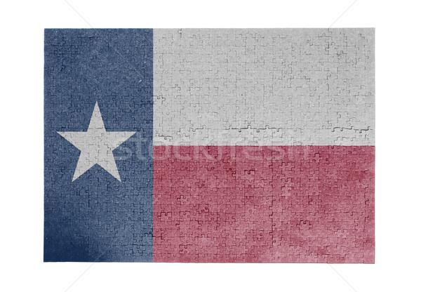 ジグソーパズル 1000年 ピース テキサス州 フラグ ストックフォト © michaklootwijk