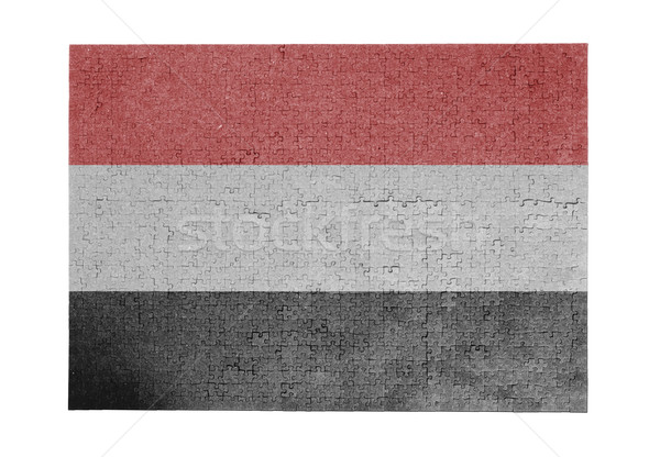 большой 1000 частей Йемен флаг Сток-фото © michaklootwijk
