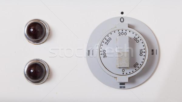 Vieux gérer four vue horloge Photo stock © michaklootwijk