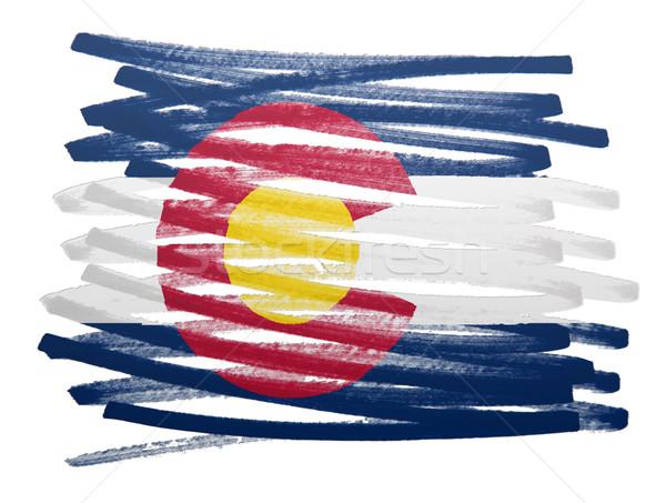 флаг иллюстрация Колорадо пер бизнеса краской Сток-фото © michaklootwijk