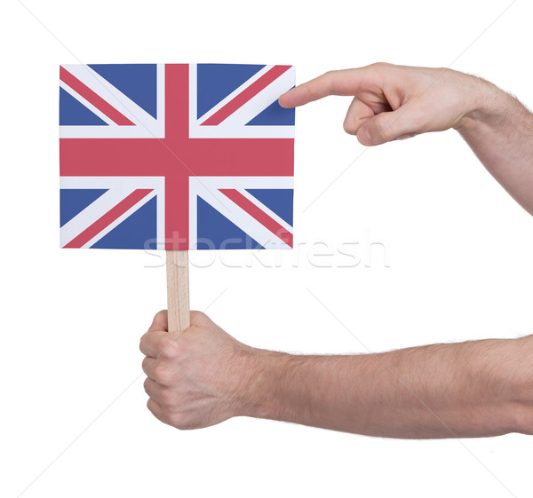 Hand holding small card - Flag of the UK Stock photo © michaklootwijk