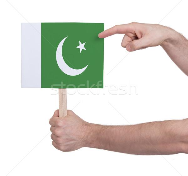 El küçük kart bayrak Pakistan Stok fotoğraf © michaklootwijk