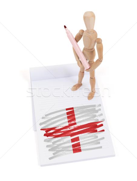манекен рисунок Англии флаг бумаги Сток-фото © michaklootwijk