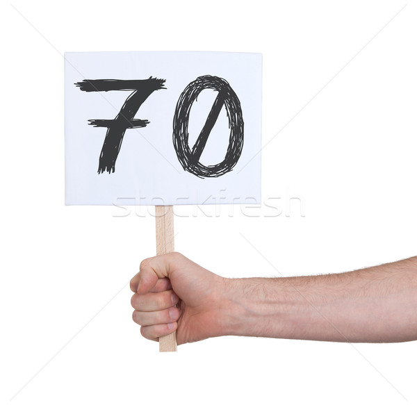 Sign with a number, 70 Stock photo © michaklootwijk