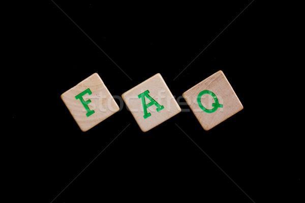 緑 文字 古い よくある質問 ストックフォト © michaklootwijk