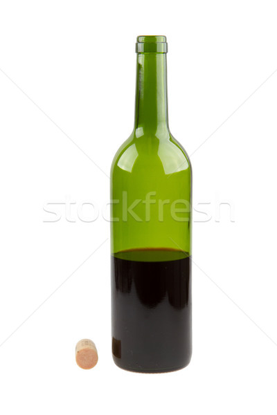 Half empty red wine bottle  Stock photo © michaklootwijk