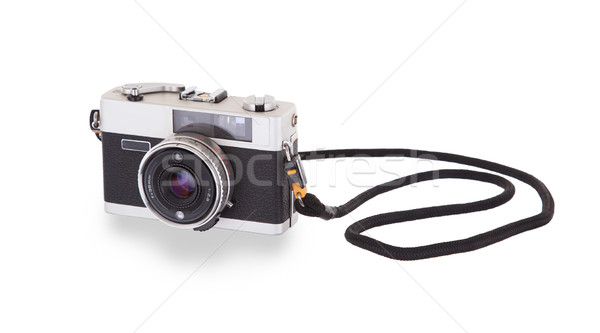 Old vintage camera isolated Stock photo © michaklootwijk