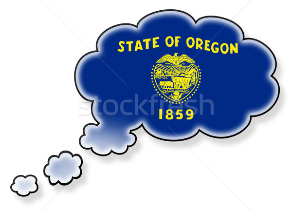 Bayrak bulut yalıtılmış beyaz Oregon sanat Stok fotoğraf © michaklootwijk