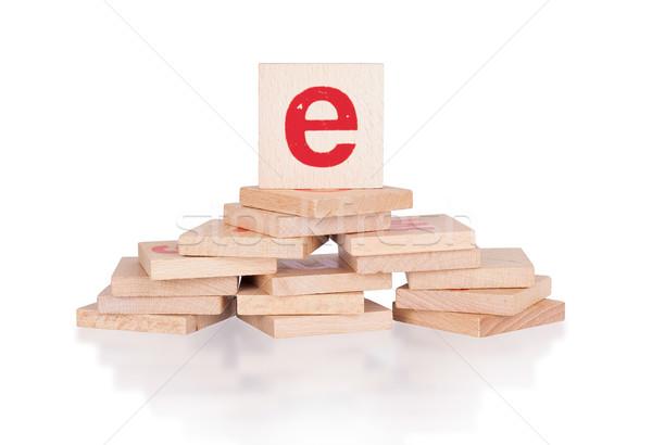 Alphabet - letter E Stock photo © michaklootwijk