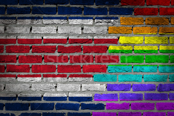 Dark brick wall - LGBT rights - Costa Rica Stock photo © michaklootwijk