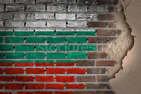 Dark brick wall with plaster - Bulgaria Stock photo © michaklootwijk