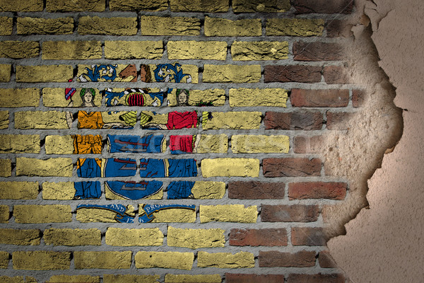 Karanlık tuğla duvar sıva New Jersey doku bayrak Stok fotoğraf © michaklootwijk
