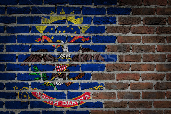 Brick wall texture with flag Stock photo © michaklootwijk