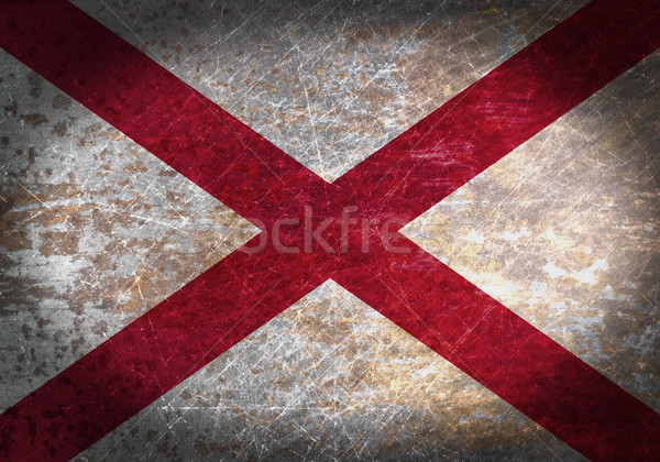 Stok fotoğraf: Eski · paslı · Metal · imzalamak · bayrak · siyah