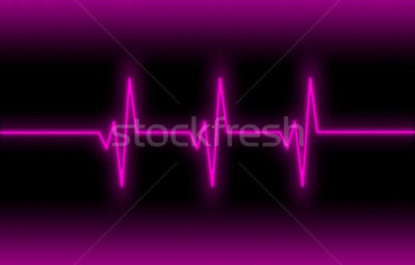 Elektrokardiogram egészségügy szívdobbanás monitor orvosi test Stock fotó © michaklootwijk