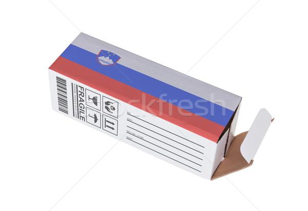 экспорт продукт Словения бумаги окна Сток-фото © michaklootwijk