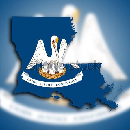 Stockfoto: Vlag · brandend · Louisiana · oorlog · crisis · brand