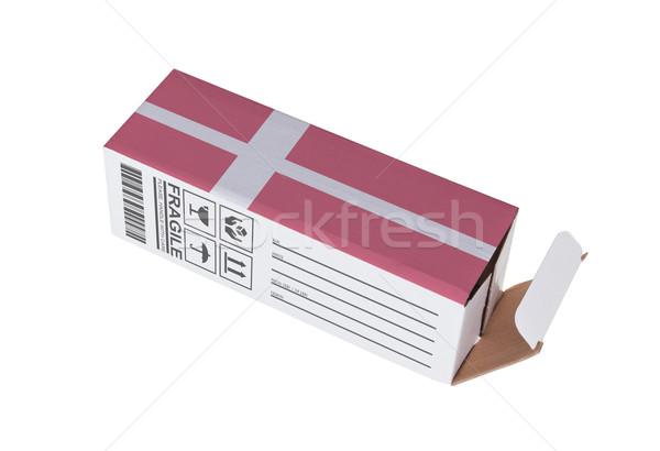 экспорт продукт Дания бумаги окна Сток-фото © michaklootwijk