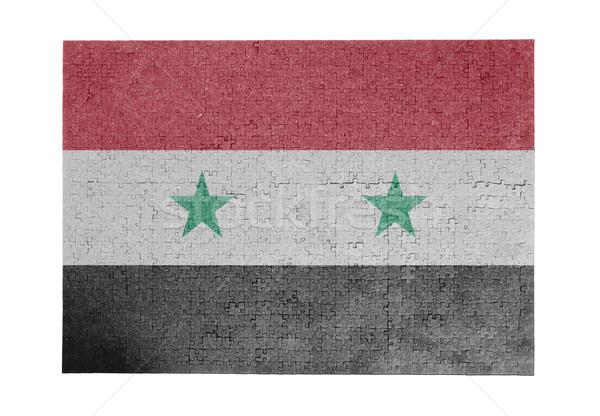 Groot 1000 stukken Syrië vlag Stockfoto © michaklootwijk