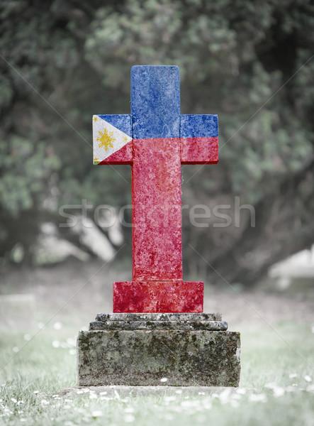 Gravestone in the cemetery - Philippines Stock photo © michaklootwijk