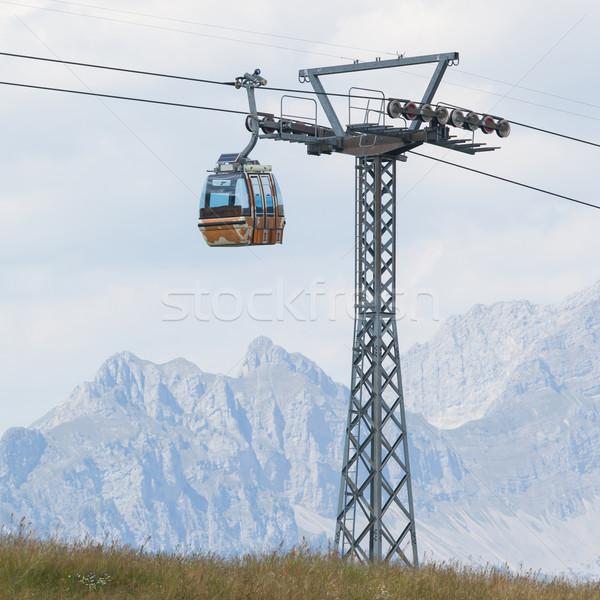 Esquiar elevador cabo cabine carro Suíça Foto stock © michaklootwijk