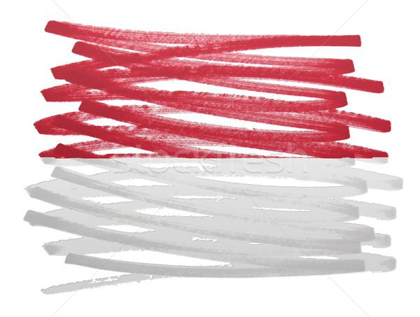 флаг иллюстрация Монако пер бизнеса краской Сток-фото © michaklootwijk