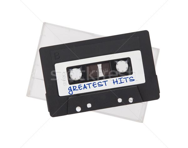 Vintage audio cassette tape geïsoleerd witte Stockfoto © michaklootwijk