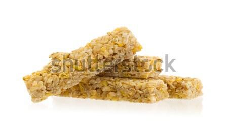 Müsli bar appel noten suiker geïsoleerd Stockfoto © michaklootwijk