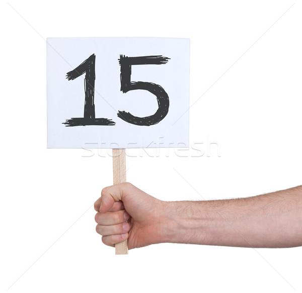 Felirat szám 15 izolált fehér üzlet Stock fotó © michaklootwijk